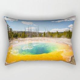 Yellowstone National Park Morning Glory Pool Wyoming Landscape Rectangular Pillow
