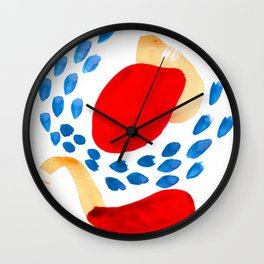 Connections Abstract Watercolor Art Wall Clock