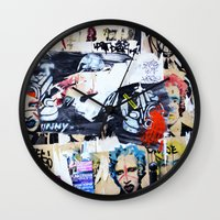 celebrity Wall Clocks featuring Celebrity by Paper Possible