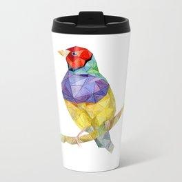 bird paint draw watercolor  Metal Travel Mug