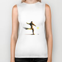 soccer Biker Tanks featuring Soccer by Enzo Lo Re
