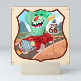 speeddemon on route 66 Mini Art Print