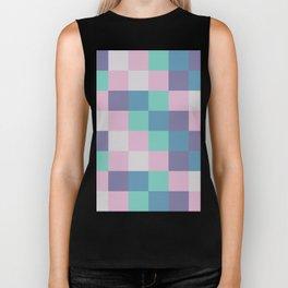 Abstract square pastel geometry Biker Tank