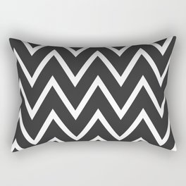 ᚖ NOIR SERIES ᚖ  Chevron Black & White pattern Rectangular Pillow