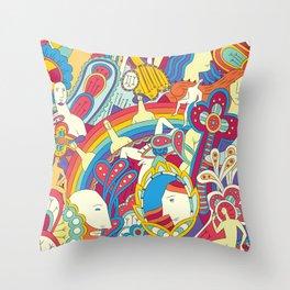 La comuna diversa Throw Pillow