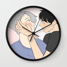 yuuri first kiss - yuri on ice Wall Clock