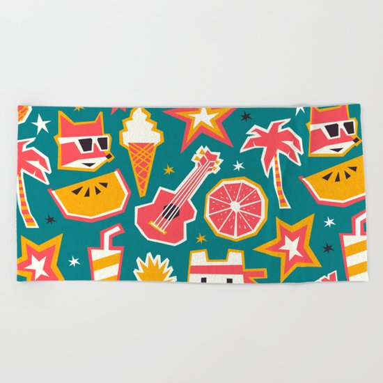 Summer is yay! Beach Towel