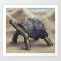 tortoise Art Prints featuring Tortoise by Ben Geiger