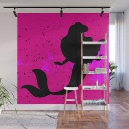 Pink Mermaid Wall Mural