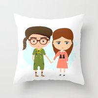 moonrise kingdom Throw Pillows featuring Moonrise Kingdom by Creo tu mundo