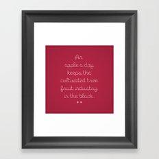 Proverbs: An Apple a Day Framed Art Print