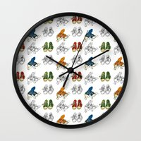 converse Wall Clocks featuring Converse by Amy frances Illustration
