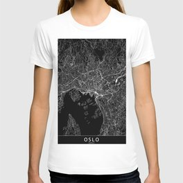 Oslo Black Map T-shirt