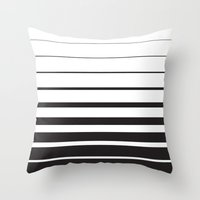 returns Throw Pillows featuring Diminishing Returns by Ryan Johnson
