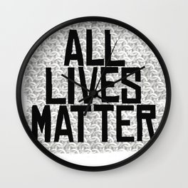 All Lives Matters Wall Clock