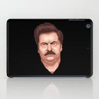 ron swanson iPad Cases featuring Swanson by Skeleton Jack