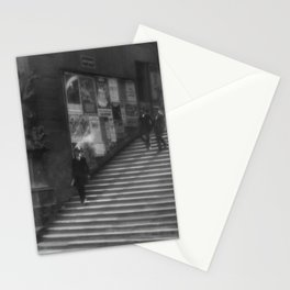 Staircase of Old Prague cityscape black and white photography - photographs wall decor Stationery Cards