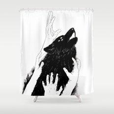 Wolves of Paris Shower Curtain