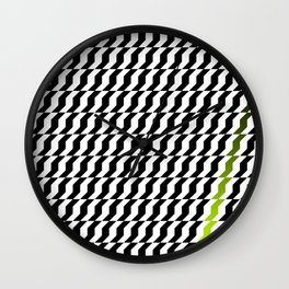 A Stripe of Green Wall Clock