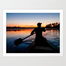 Sunrise in the Amazon Fine Art Print Art Print