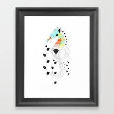 Geoseahorse Framed Art Print
