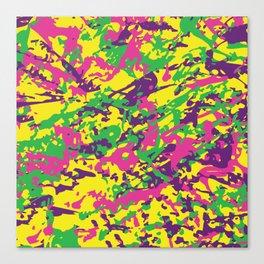 Bright Urban Camouflage Canvas Print