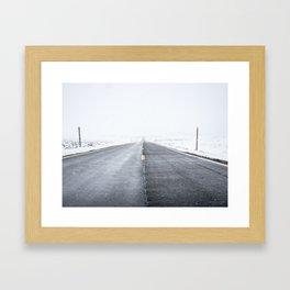 Road to Snowhere Framed Art Print