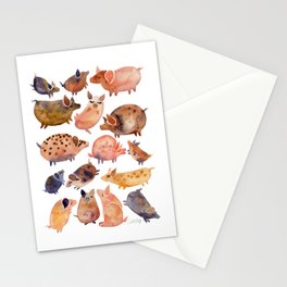 Pig Collection Stationery Cards
