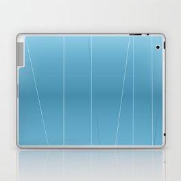 Modern Blue Line Art Laptop & iPad Skin