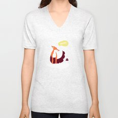party animals - english fox Unisex V-Neck