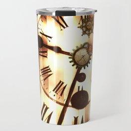 Steampunk, clocks and gears, vintage design Travel Mug