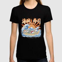 pirates sushi off kanagawa T-shirt