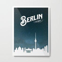 Berlin skyline by night Metal Print