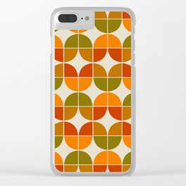 Mid Century Geometric 8 Clear iPhone Case