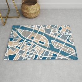 Paris Île de la Cité Map Rug