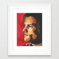 sam winchester Framed Art Prints featuring Sam Winchester by Heather Davies-Devoe