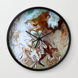 Milk Chocolate with peppermint & cream 3 Wall Clock