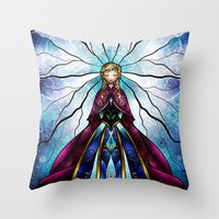 mandie manzano Throw Pillows featuring The Little Sister by Mandie Manzano