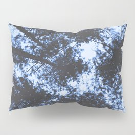 BLUE SERIES Looking Up At Trees, Blue wall-art, Nature, Forest, Trees, Photography Pillow Sham