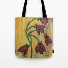 Ladybug Flowers Tote Bag