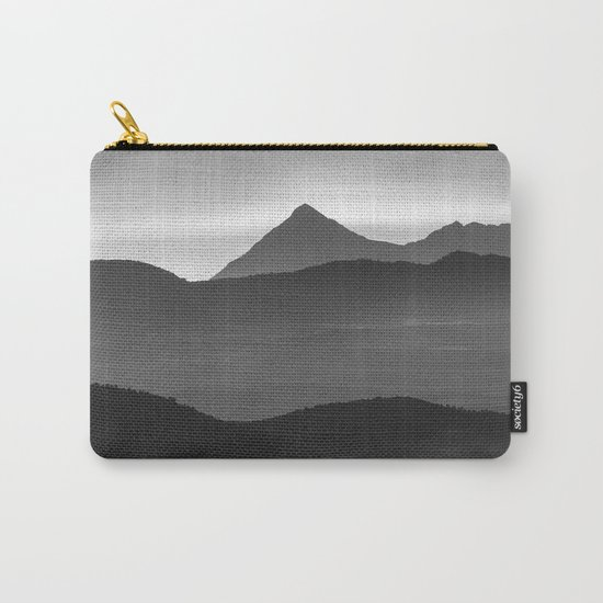 """""""Misty mountains"""". Sunset. BW Carry-All Pouch"""