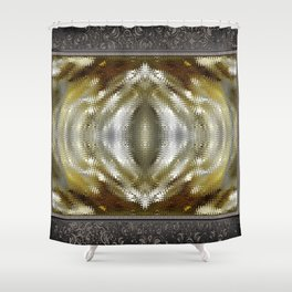 Cafe au Lait Kaleidoscope Shower Curtain