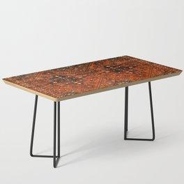 N151 - Orange Oriental Vintage Traditional Moroccan Style Artwork Coffee Table