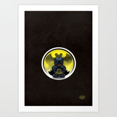 Super Bears - the Moody One Art Print