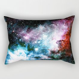 Carina Nebula : Vivid Blue Fuchsia and Red Rectangular Pillow