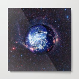 The Yin Yang Energy Swirl Metal Print