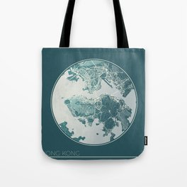 Hong Kong Map Planet Tote Bag