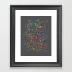 50 cartoon silhouettes Framed Art Print