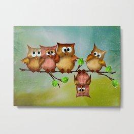 Owl crashed Metal Print