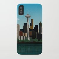 seattle iPhone & iPod Cases featuring Seattle by WyattDesign